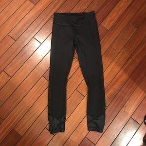 Lululemon black legging leather material - size 2